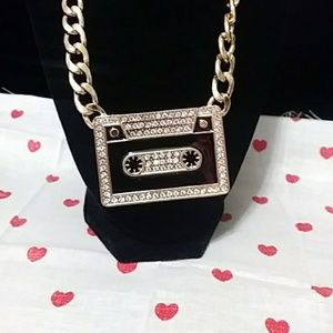 Cassette Bling Hold necklace